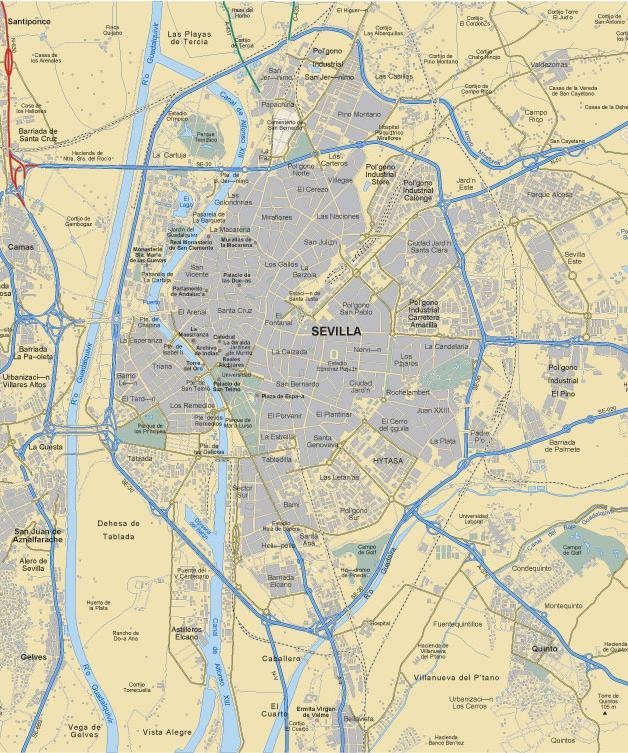Cartografia De Sevilla Geografia De Sevilla